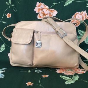 🌸GIANI BERNINI  Leather CrossBody Organizer Purse